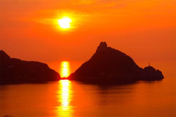 矢堅目の夕日